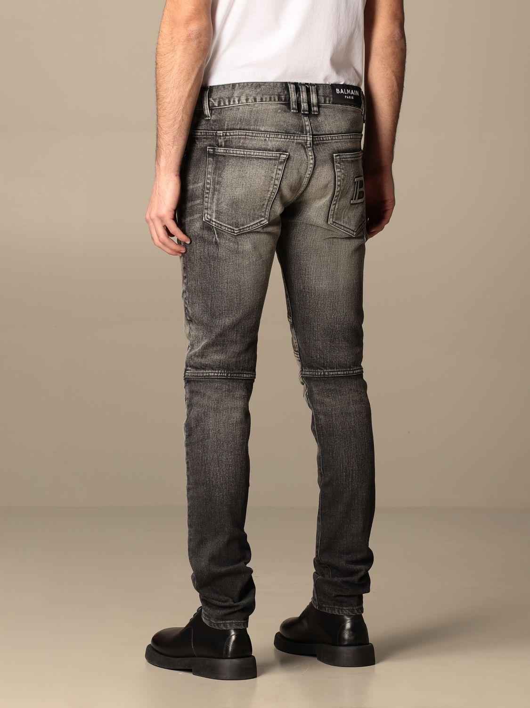 Trousers Balmain: Balmain jeans in washed denim black 3