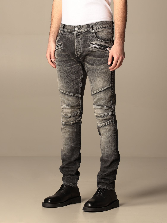 Trousers Balmain: Balmain jeans in washed denim black 4