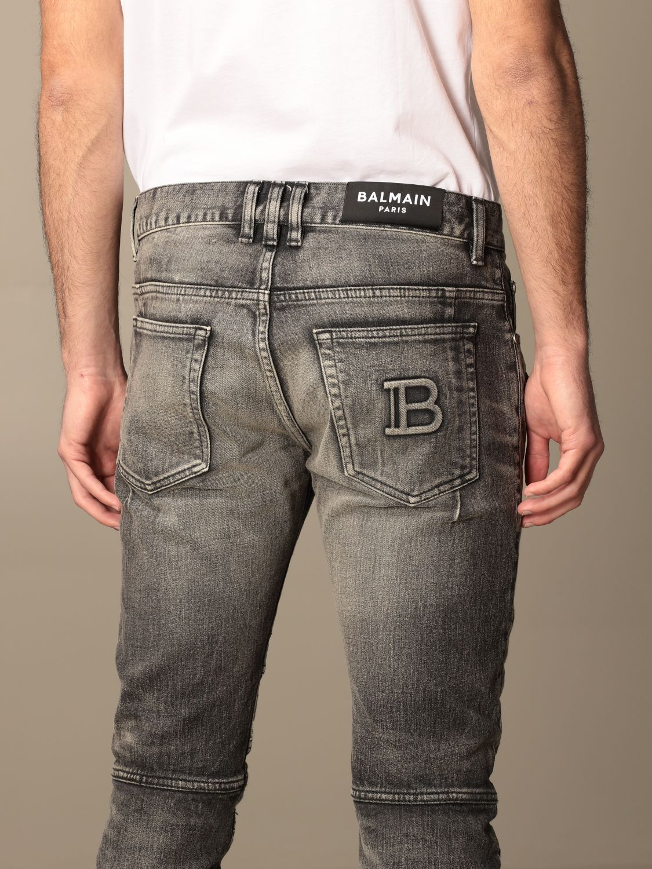 Trousers Balmain: Balmain jeans in washed denim black 5
