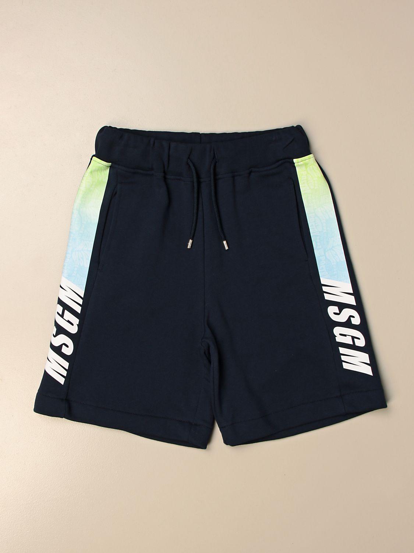 Shorts Msgm Kids: Msgm Kids jogging shorts with logo blue 1