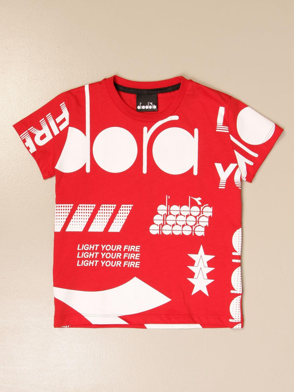 Camiseta Diadora: Camiseta niños Diadora rojo 1