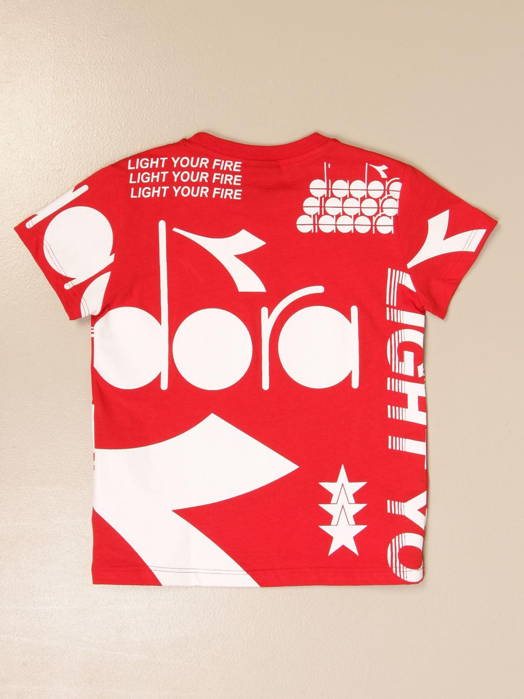 Camiseta Diadora: Camiseta niños Diadora rojo 2