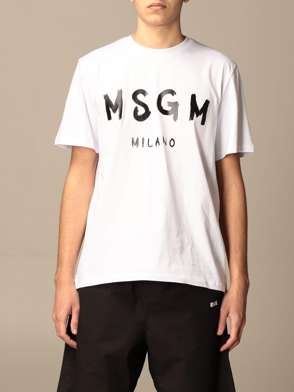 T-shirt Msgm: T-shirt men Msgm white 1