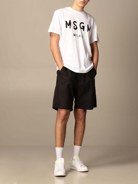 T-shirt Msgm: T-shirt men Msgm white 2