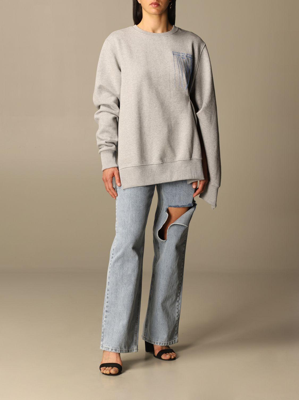 Sweatshirt Rokh: Sweatshirt damen Rokh grau 2