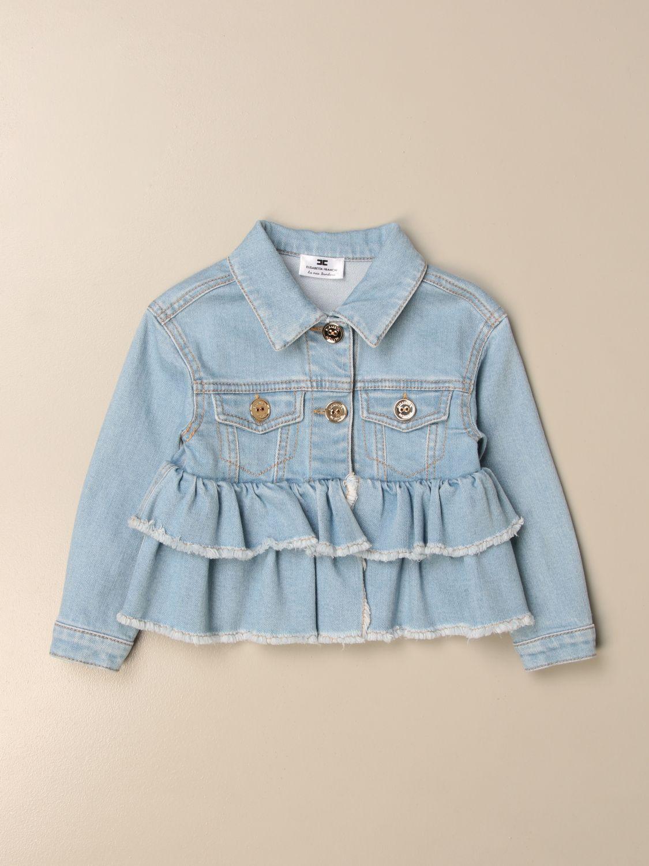 Куртка Elisabetta Franchi: Куртка Детское Elisabetta Franchi серо-бежевый 1