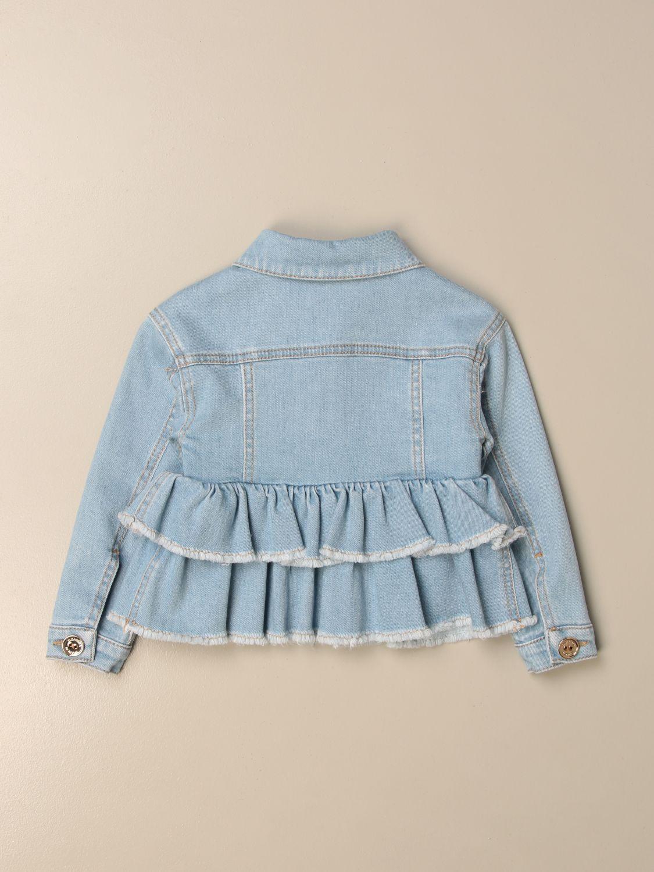 Куртка Elisabetta Franchi: Куртка Детское Elisabetta Franchi серо-бежевый 2