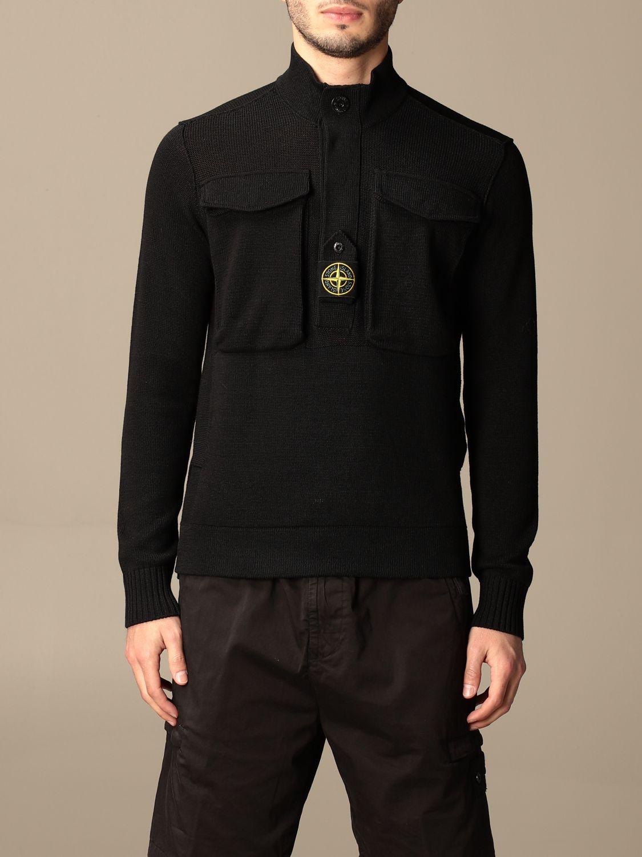 Jumper Stone Island: Stone Island sweater in mercerized cotton black 1