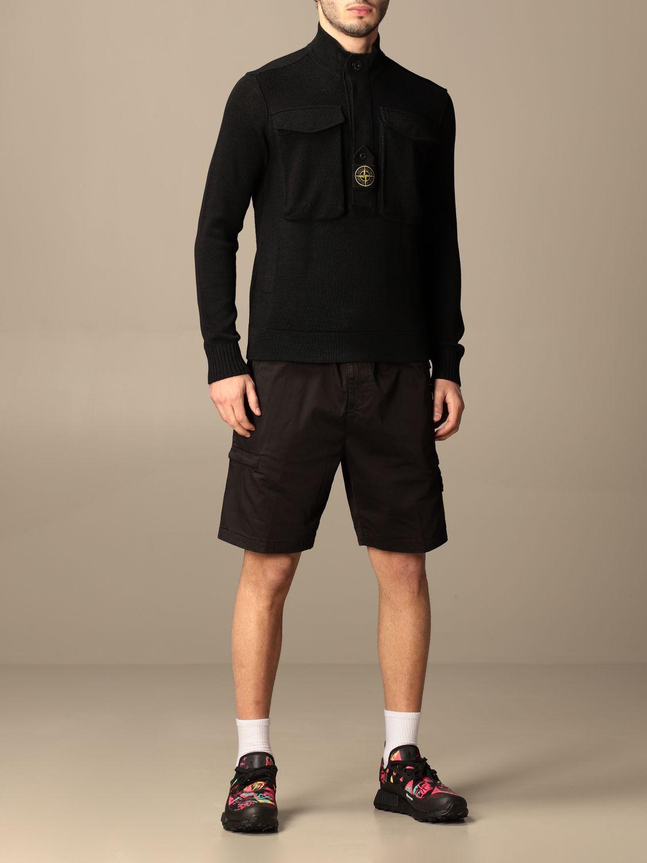 Jumper Stone Island: Stone Island sweater in mercerized cotton black 2