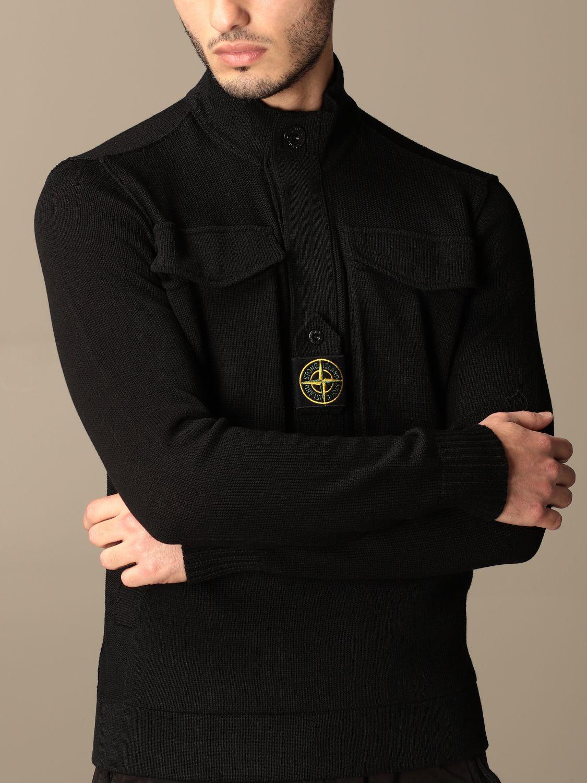Jumper Stone Island: Stone Island sweater in mercerized cotton black 4
