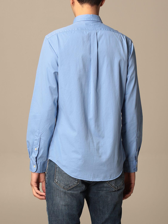 Shirt Polo Ralph Lauren: Polo Ralph Lauren cotton shirt with button down collar gnawed blue 2