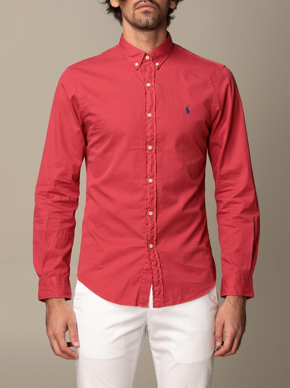Shirt Polo Ralph Lauren: Polo Ralph Lauren cotton shirt with button down collar red 1