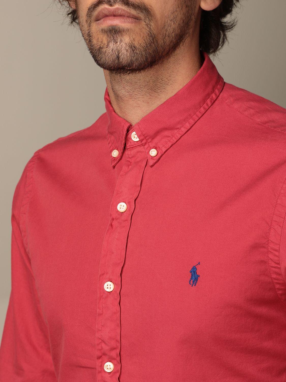 Shirt Polo Ralph Lauren: Polo Ralph Lauren cotton shirt with button down collar red 3