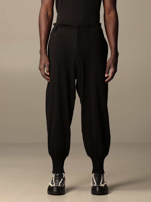 Pantalone Yohji Yamamoto: Pantalone Yohji Yamamoto in cotone nero 1