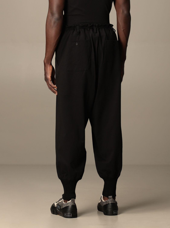 Pantalone Yohji Yamamoto: Pantalone Yohji Yamamoto in cotone nero 3