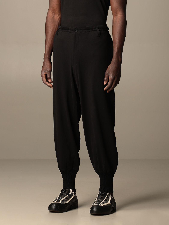 Pantalone Yohji Yamamoto: Pantalone Yohji Yamamoto in cotone nero 4