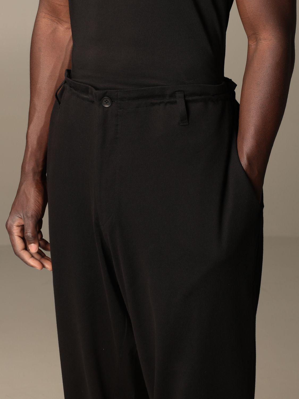 Pantalone Yohji Yamamoto: Pantalone Yohji Yamamoto in cotone nero 5