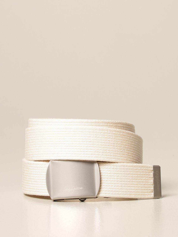 Cinturón Yohji Yamamoto: Cinturón hombre Y3 Yohji Yamamoto marfil 1