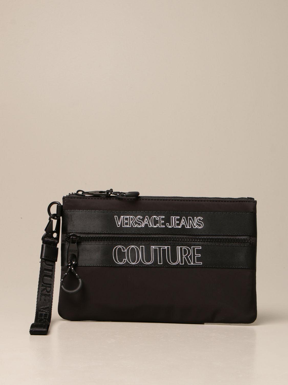 Portadocumenti Versace Jeans Couture: Pochette Versace Jeans Couture in nylon nero 1
