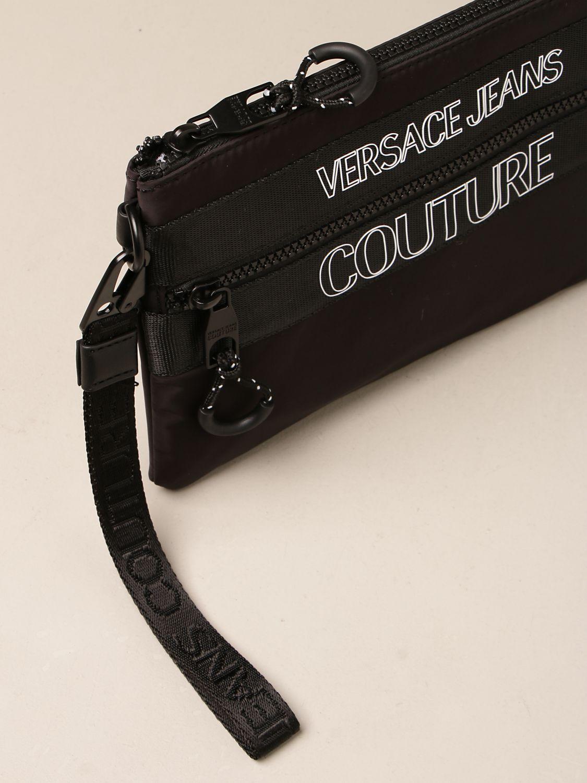 Portadocumenti Versace Jeans Couture: Pochette Versace Jeans Couture in nylon nero 3