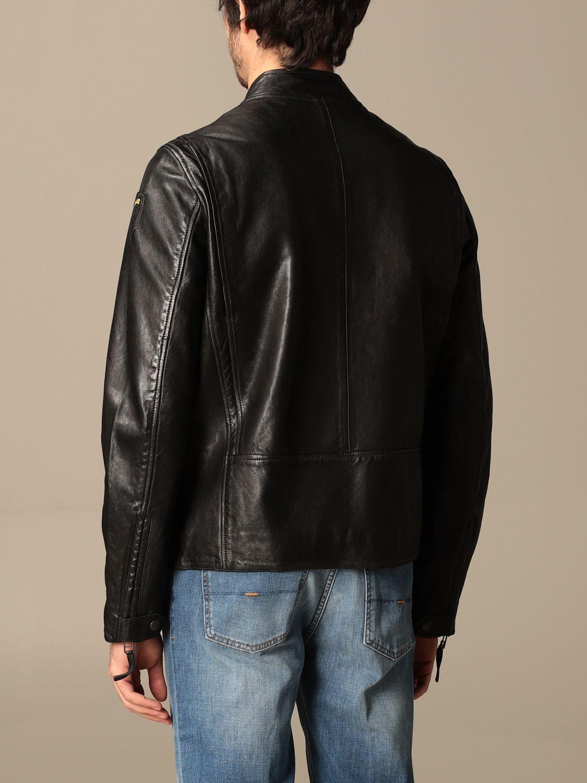 Giacca Blauer: Chiodo di pelle Blauer con logo nero 2
