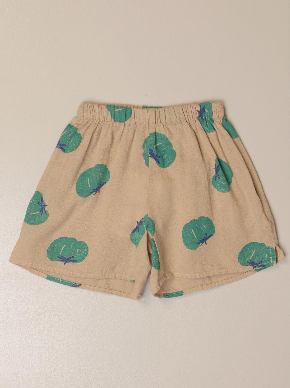 Pantalones cortos Bobo Choses: Pantalones cortos niños Bobo Choses beige 1