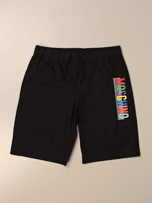 Shorts Moschino Kid: Moschino Kid jogging bermuda shorts with logo black 1