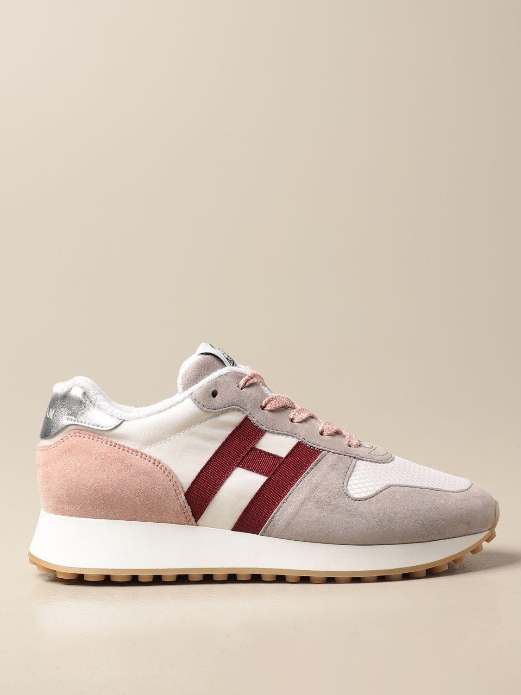Sneakers H429 Hogan in tela di nylon e camoscio