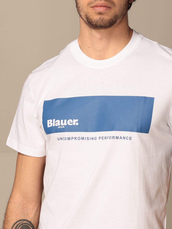 T-shirt Blauer: T-shirt Blauer in cotone con logo bianco 3