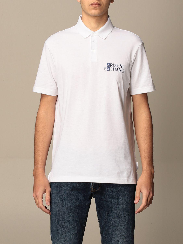 Polo shirt Armani Exchange: Polo shirt men Armani Exchange white 1
