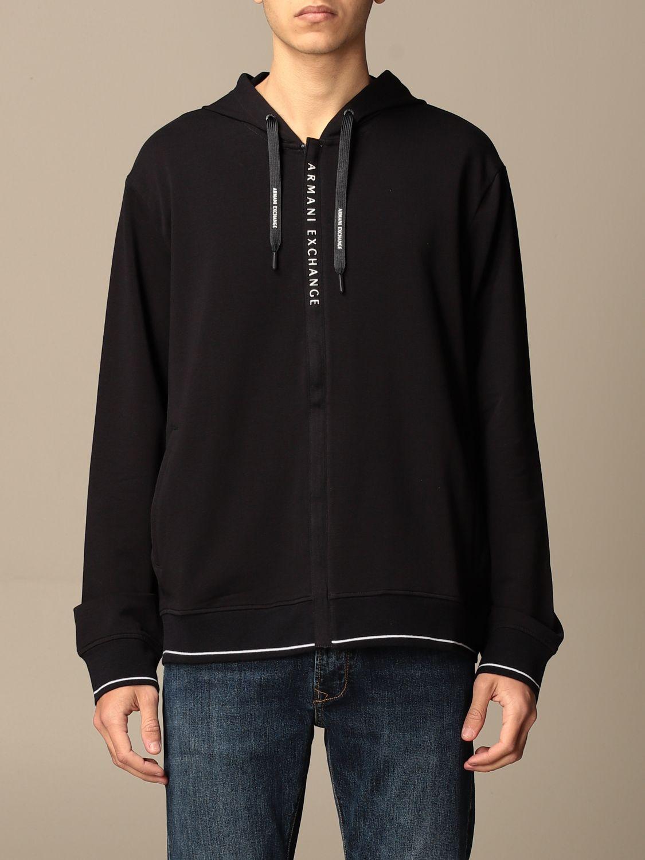 Sweatshirt Armani Exchange: Armani Exchange hoodie in stretch cotton blue 1