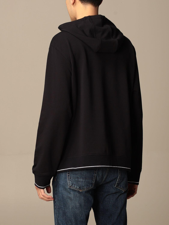 Sweatshirt Armani Exchange: Armani Exchange hoodie in stretch cotton blue 2