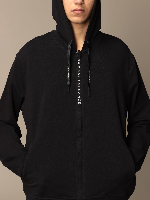 Sweatshirt Armani Exchange: Armani Exchange hoodie in stretch cotton blue 3