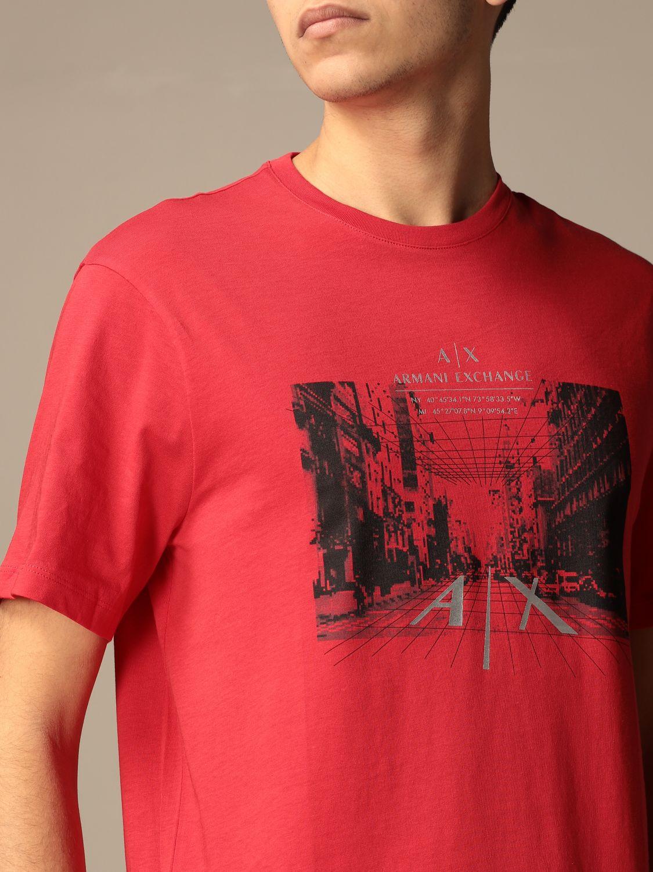 T-shirt Armani Exchange: T-shirt homme Armani Exchange rouge 3