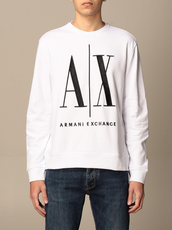 Sweatshirt Armani Exchange: Armani Exchange crewneck sweatshirt with AX logo white 1