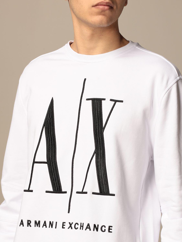 Sweatshirt Armani Exchange: Armani Exchange crewneck sweatshirt with AX logo white 3