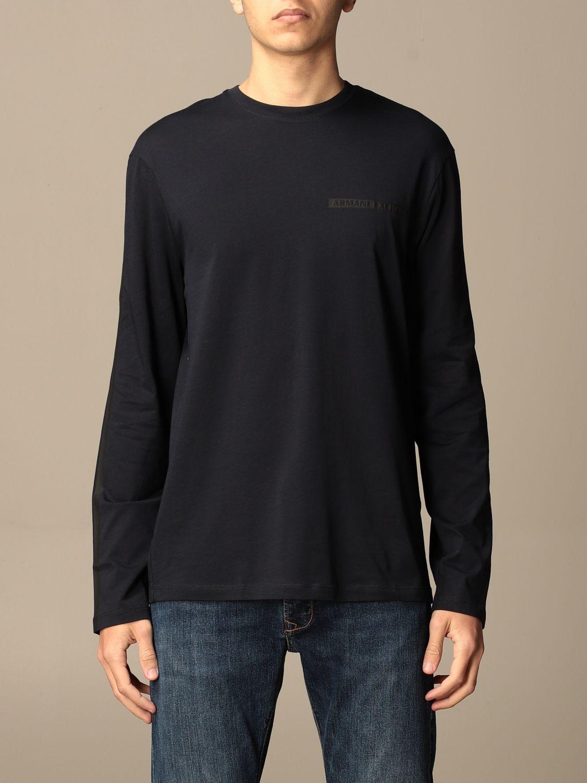 T-shirt Armani Exchange: Armani Exchange basic cotton t-shirt blue 1