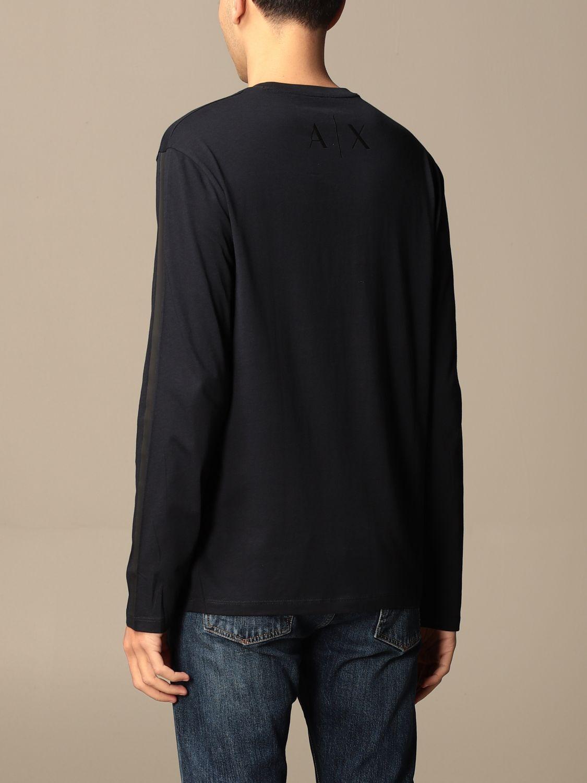 T-shirt Armani Exchange: Armani Exchange basic cotton t-shirt blue 2