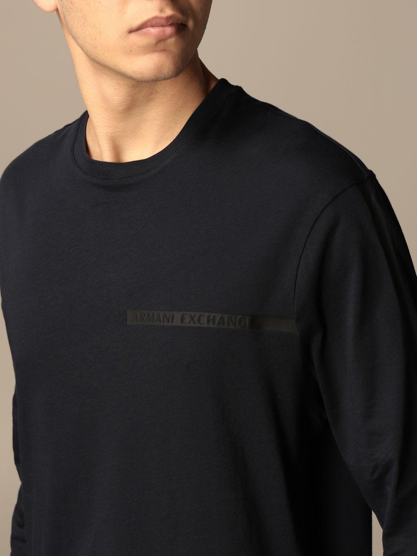 T-shirt Armani Exchange: Armani Exchange basic cotton t-shirt blue 3
