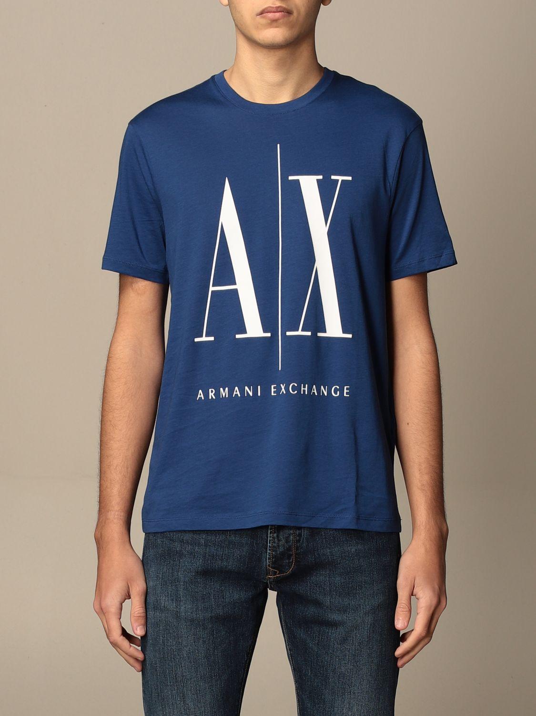 T-shirt Armani Exchange: T-shirt Armani Exchange con logo AX blue 1