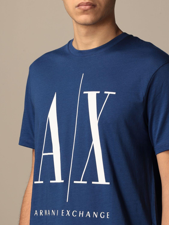 T-shirt Armani Exchange: T-shirt Armani Exchange con logo AX blue 3