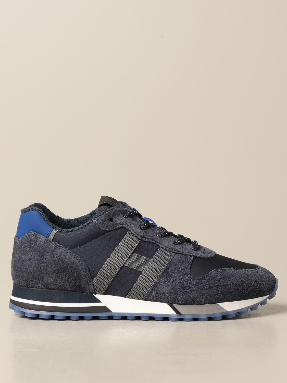 HOGAN: H383 running sneakers in nylon and suede | Sneakers Hogan ...