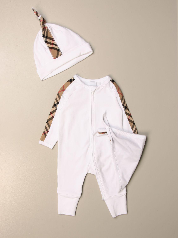 Pack Burberry: Conjunto niños Burberry blanco 1