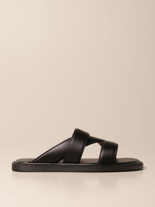 Sandals Bottega Veneta: Bottega Veneta leather sandal black 1