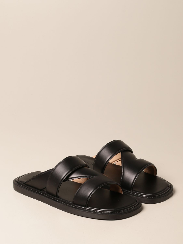 Sandals Bottega Veneta: Bottega Veneta leather sandal black 2