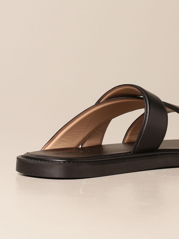 Sandals Bottega Veneta: Bottega Veneta leather sandal black 3