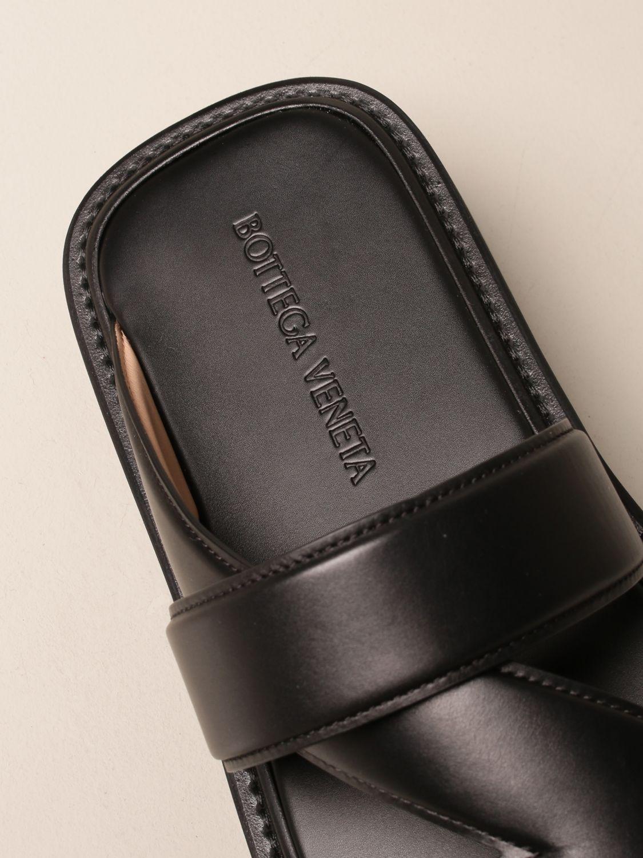 Sandals Bottega Veneta: Bottega Veneta leather sandal black 4