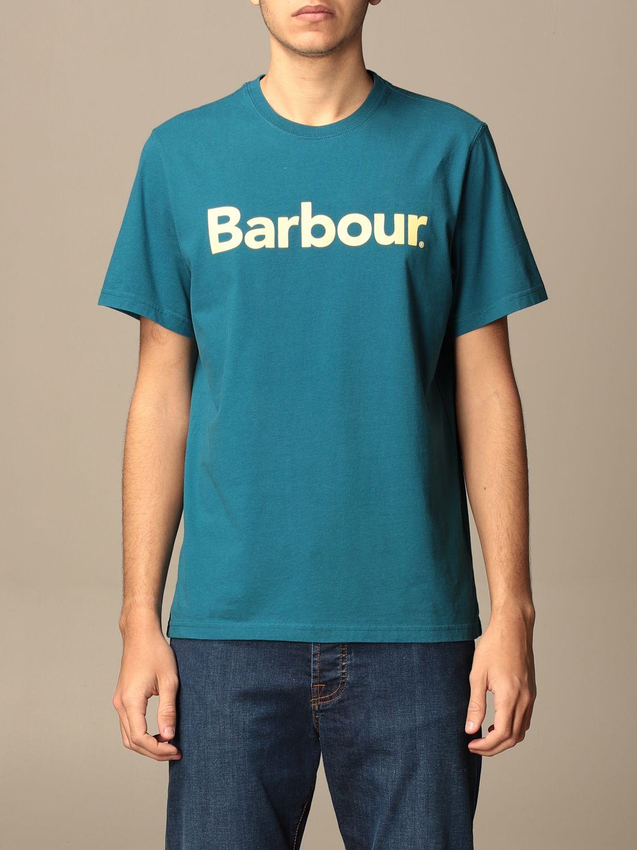 T-shirt Barbour: Barbour cotton t-shirt with logo detail blue 1