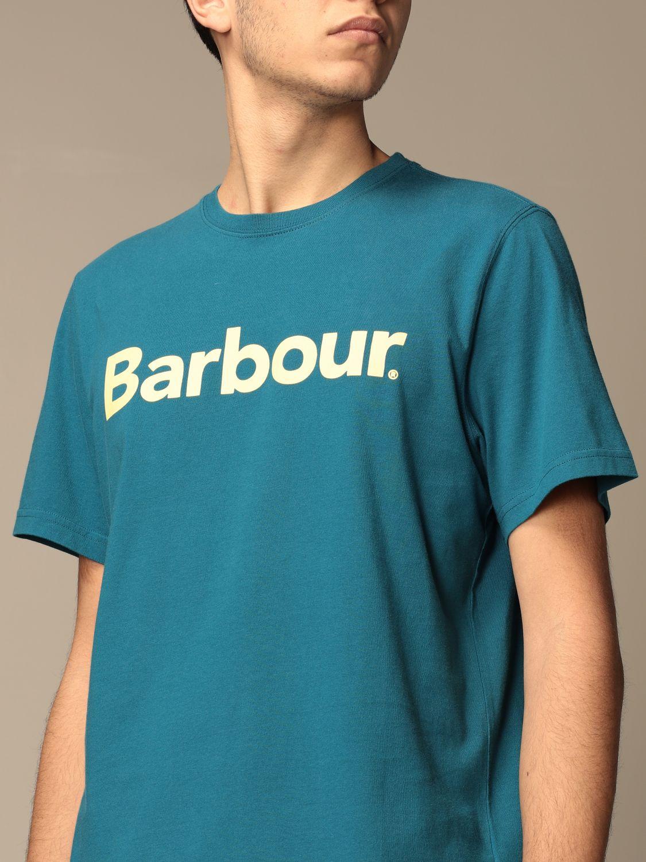 T-shirt Barbour: Barbour cotton t-shirt with logo detail blue 3