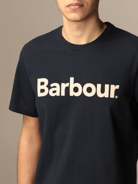 T-shirt Barbour: T-shirt men Barbour blue 1 3
